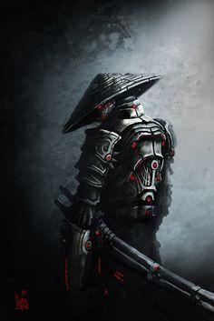 Samurai by mr. Ninja Kunst, Arte Ninja, Ninja Art, Ronin Samurai, Samurai Warrior, Fantasy Kunst, Fantasy Art, Samurai Wallpaper, Samurai Artwork