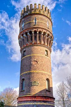 Water tower of Hellevoetsluis - photo by Michael van Eden, via Flickr;  South Holland, The Netherlands