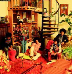 The Jackson 5 at their home in Encino, California