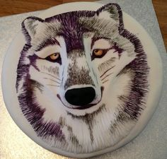 The Wolf Cake by Symphony in Sugar Animal Birthday Cakes, Animal Cakes, Birthday Treats, 5th Birthday, Happy Birthday, Fancy Cakes, Mini Cakes, Cupcakes, Cupcake Cakes