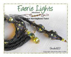 Beading Pattern Twisted Herringbone Rope par HeatherCollinBeading