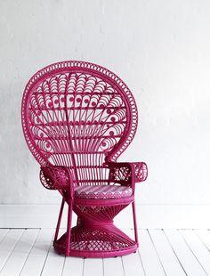 Peacock Chair Fushcia