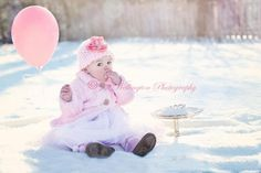 Winter Portrait Shoot for First Birthday, what a cute idea! But in Texas? lol maybe!