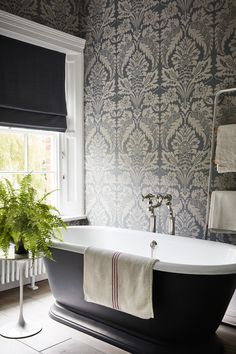 Traditional bathroom design ideas: 19 ways to create character and charm House interior ideas Beautiful Bathrooms, Modern Bathroom, Master Bathroom, Black Bathrooms, Bathroom Small, White Bathroom, Bathroom Feature Wall, Kohler Bathroom, Bathroom Laundry