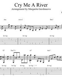 Sheet music, tabs for guitar. Cry Me A River - Arthur Hamilton. Music Tabs, Diana Krall, Guitar Sheet Music, Hamilton, Crying, River, Rivers