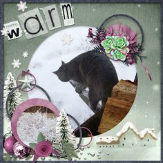 This is for Elizabeth's December 2016 Spotlight The Collab Challenge.  I used the September 2015 Template by Janet, and Christmas Time Collab Kit by ScrapBird Designers.