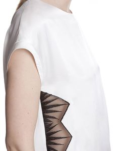 Sandro Effet top w lace side insets