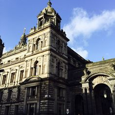 Via @sarahstranguk #Glasgow City Chambers #CaledonianSleeper #BlueSky  #CityChambers #Scottish #Scotland #Victorian #Architecture #UK