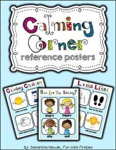 """Now they're available in an EDITABLE version! These reference posters provide a simple and effective visual, especially for special needs students, to help kids self regulate and calm down. Great for a time out, """"take 5,"""" or break space."""