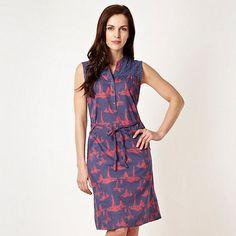 Mantaray Blue boat sleeveless shirt dress- at Debenhams.com