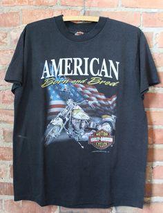 Vintage Harley Davidson Emblem Graphic T Shirt 1992 Large Tees