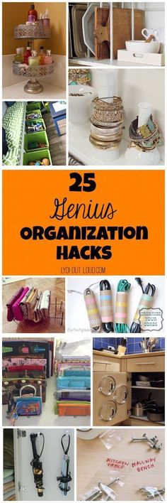 The best organization hacks I've seen! These pretty much sum up my New Year's resolutions!