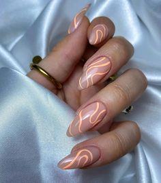 Classy Almond Nails, Almond Shape Nails, Almond Acrylic Nails, Best Acrylic Nails, Acrylic Nails Designs Short, Fashion Design Inspiration, Nails Inspiration, Gorgeous Nails, Pretty Nails