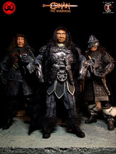 Calvin's Custom 1/6 one sixth scale custom Thulsa Doom, Thorgrim and Rexor from Conan the Barbarian A two only one off commission project.