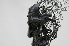 Steel Wire Sculptures by Tomohiro Inaba