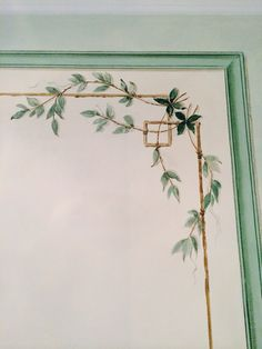 Detail of wallpainting - Gustavian style, painted by Lilian Peterson