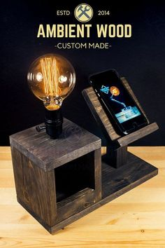 Wood Bedside Utility Storage Box Lamp With Wood Stand Diy Floor Lamp, Pvc Pipe Crafts, Corner Lamp, Traditional Lamps, Steampunk Lamp, Brass Lamp, Diy Holz, Pipe Lamp, Vintage Lamps
