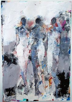 "Julie Schumer: Figure 3. No. 84 22x15"" Mixed Media on Paper $2,200 http://www.galerieonbroad.com/#!Figures-3-No-84-22X15-mixed-media/zoom/cpbt/image15xd"