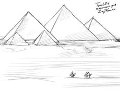How to draw Pyramids step by step 4