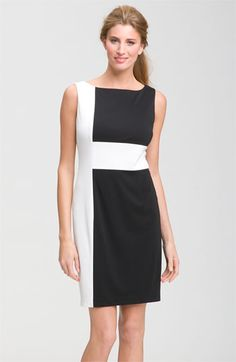 Adrienne Papell colorblock dress as seen at www.nordstrom.com             COLOR BLOCK ME
