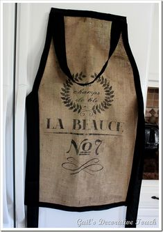 How to make a French Grain Burlap Baker's Apron
