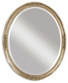 Uttermost Newport Oval Silver Mirror - contemporary - Mirrors - Beyond Stores