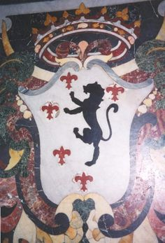 Arms of Carlo Gesualdo, prince of Venosa, from his tomb in the Chiesa del Gesu.