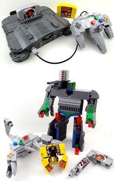 LEGO Nintendo 64 Transformer