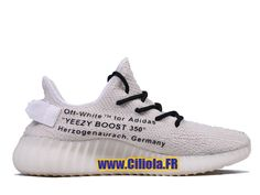 reputable site 06435 38f8f Off-White x Nouveau Adidas Yeezy Boost 350 V2 Chaussure Cher HommeFemme  Gris
