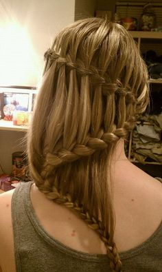 Waterfall braid. Wow!