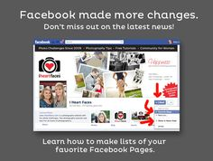 How to Make a Facebook List for Pages. See all updates. Facebook made changes to business pages. Information you will want to know via @iheartfaces