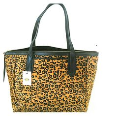 Fossil Sydney Shopper Cheetah Fossil Cheetah Print  calf hair soft leather Bag with original tag with spacious silhouette to stash all your essentials Fossil Bags Satchels
