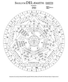 The Sigillum Dei (seal of God, or signum dei vivi, symbol of the living God…