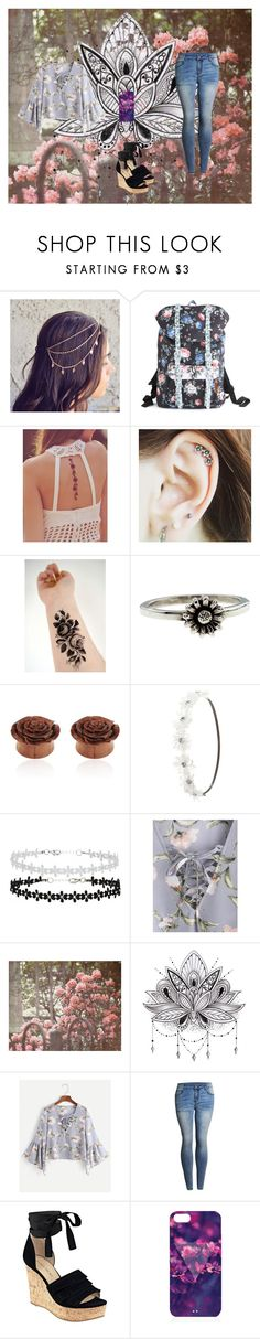 """""""Flowers are the way to a girls heart"""" by kittiekait ❤ liked on Polyvore featuring Herschel Supply Co., Free People, Metal Couture, Charlotte Russe, WALL and Ivanka Trump"""