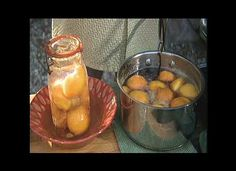 Quick Pickled Peaches  by Chef Michel Nischan  These are delicious!   Great served with roasted chicken.  Same recipe works with cherries, which paired great with feta or goats cheese.