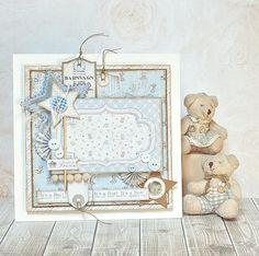 Beautiful Baby Boy Card, made by Maja Nowak