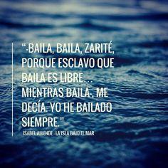 """Llévate esta frase o mejor aún el Libro completo de Isabel Allende """"La isla bajo el mar"""" GRATIS!!!.. visita el enlace en mi bio y participa en la Tómbola Literaria #dalvareze #tombola #gratis #regalo #libro #leer #isabelallende #gracias #autor #leer #queleer"""