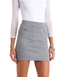 Quilted Bodycon Mini Skirt: Charlotte Russe