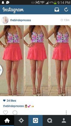 Pretty Shirts, Skirt Outfits, Skater Skirt, Skirts, Fashion, Moda, Fashion Styles, Skirt, Skirt