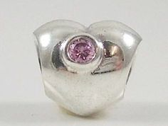 S925 Sterling Silver Puffy Silver Heart Threaded Bead Charm . . .