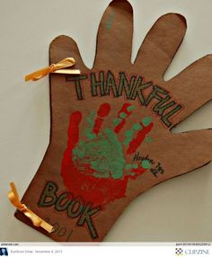Thanksgiving Crafts for kids Add a page and real pics for each member of the family and why they are grateful for that person