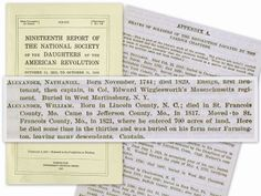 One of the important contributions that the DAR (Daughters of the American Revolution) has made over the past 119 years is their effort to locate and document the grave of every soldier that served in the American Revolution. These reports are included in GenealogyBank's Historical Documents section.