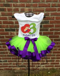 A personal favorite from my Etsy shop https://www.etsy.com/listing/226121962/monogrammed-birthday-tutu-outfits