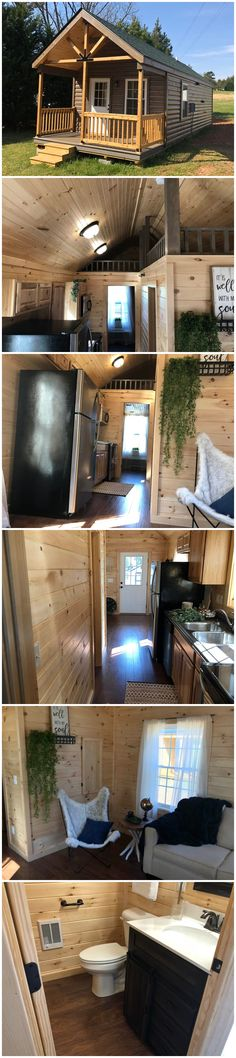 The Creekside brand new modular home! Small Cottages, Cabins And Cottages, Small Houses, Shed Homes, Cabin Homes, Tumbleweed Tiny Homes, Timber House, House Elevation, Tiny House Living