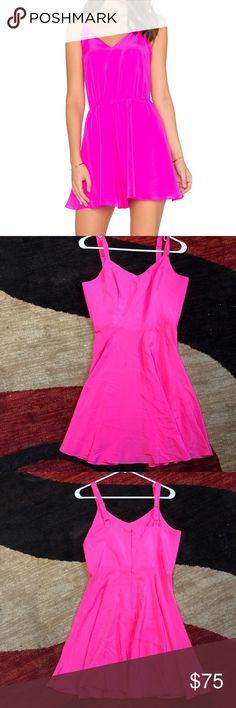 aade71c80b Amanda Uprichard NWOT Hot Pink Silk Dress Amanda Uprichard NWOT Hot Pink  Silk Dress Fun and