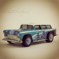 "'55 Chevy Nomad - 2003 Hot Wheels HWY 35 ""Wave Rippers"" #hotwheels 
