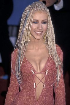 CHRISTINA AGUILERA, 2001...Most Outrageous Grammy's Outfits - Grammy's 2014