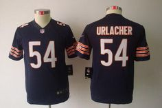 Nike Bears #54 Brian Urlacher Navy Blue Team Color Youth Embroidered NFL Limited Jersey prices USD $23.50 #cheapjerseys #sportsjerseys #popular jerseys #NFL #MLB #NBA