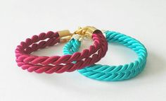 SILK CORD BRACELET with Gold or Silver Clasp / Silk by Jadorenakit