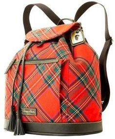 Dooney and Bourke Tartan collection - unfortunately this collection is made in China. Tartan Mode, Tartan Kilt, Tweed, Tartan Fashion, Scottish Tartans, Goth Style, My Style, Latex Fashion, Gothic Fashion